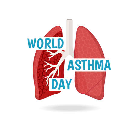 Vector Illustration of the World Asthma Day.