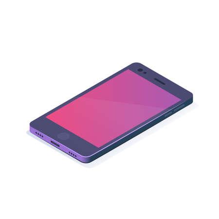 Isometric vector illustration. Smartphone icon. Mobile device. Illustration