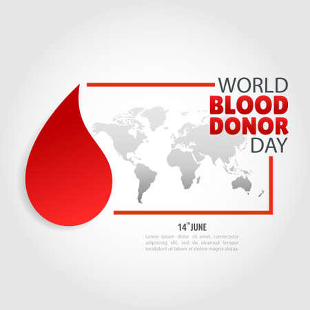 Vector Illustration of the World Blood Donor Day