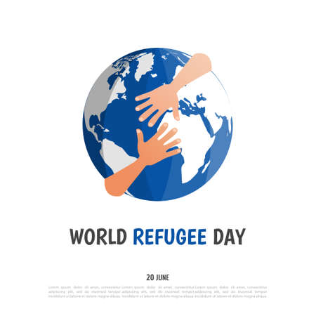 Vector Illustration of the World Refugee Day
