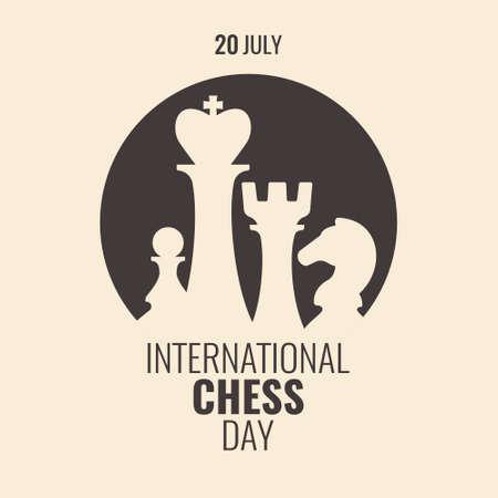 Vector Illustration of International Chess Day.