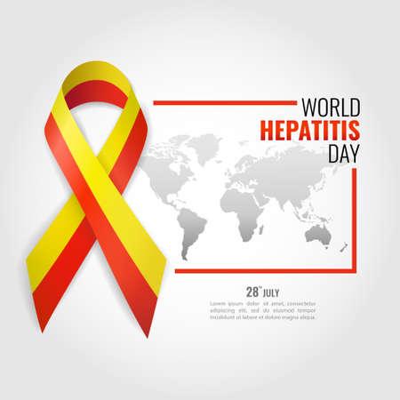 Illustration vectorielle sur la journée mondiale de l'hépatite