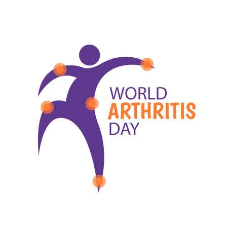 Illustration vectorielle sur le thème Journée mondiale de l'arthrite