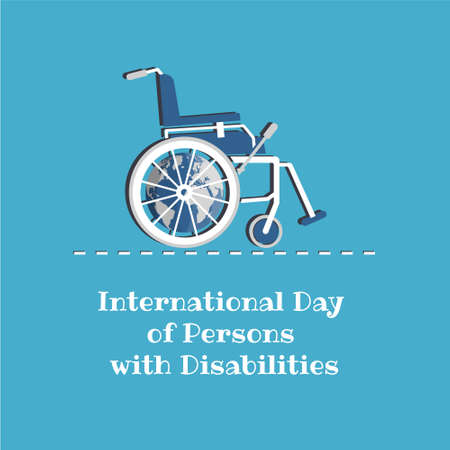 Vector Illustration on the theme International Day of Persons with Disabilities Иллюстрация
