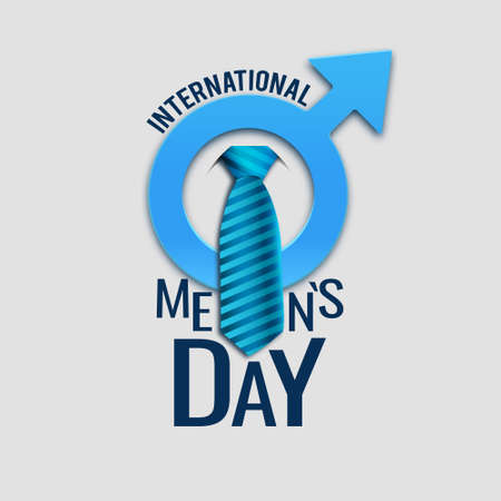 Vector illustration on the theme of International Men's Day. For a poster or banner and greeting card.