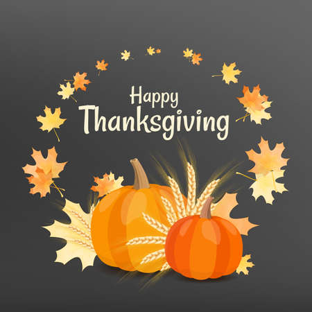 Vector illustration on the theme thanksgiving day.