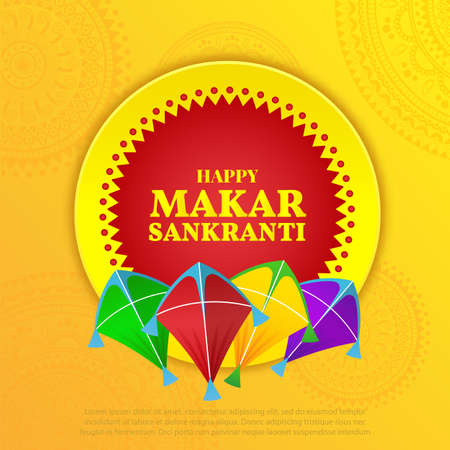 Vector illustration on the theme Makar Sankranti Festival