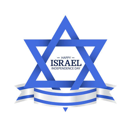Vector Illustration of Independence Day of Israel.