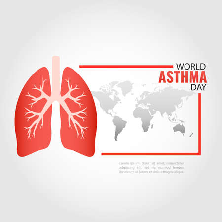 Vector Illustration of World Asthma Day. Vectores