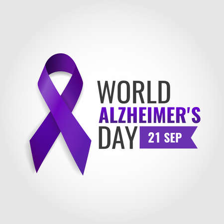 Vector Illustration of World Alzheimer's Day Ilustração