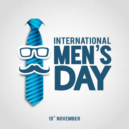 Vector illustration of International Men's Day. For a poster or banner and greeting card.