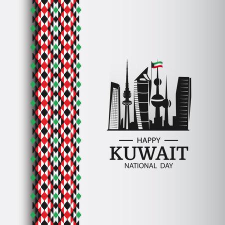 Vector Illustration of National Day Kuwait. National pattern. Vecteurs