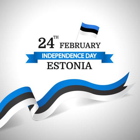 Vector Illustration of Independence Day of Estonia. Vektorgrafik