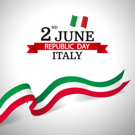 Vector Illustration of Republic Day Italy