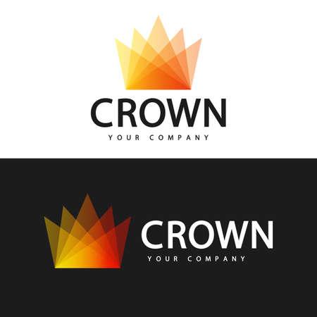 Logo template. Crown logo design. 일러스트