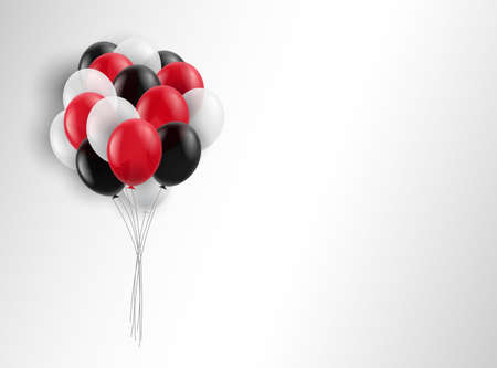 Vector illustration. A bunch of balloons on a white background.