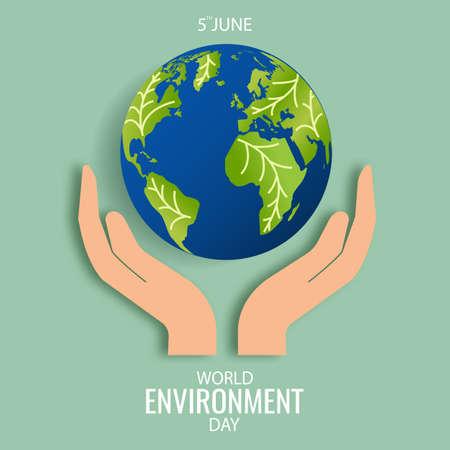 Vector Illustration of World Environment Day. 일러스트