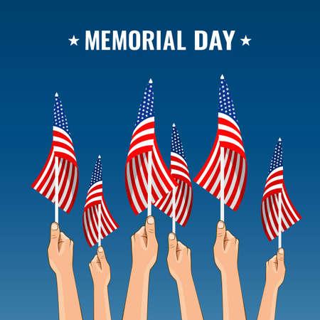 Vector Illustration of Memorial day in USA. 일러스트