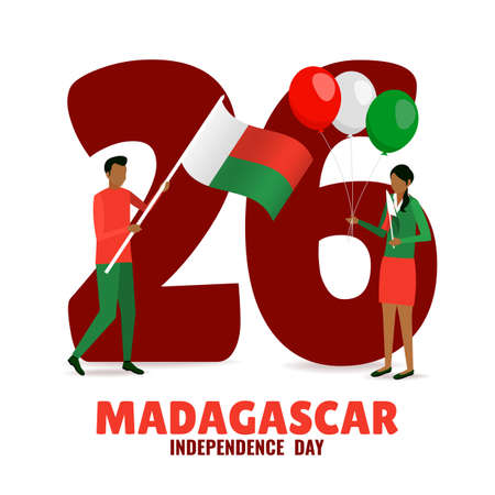 Vector Illustration of Madagascar Independence Day.