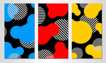 Set of abstract cover template. Vertical design. 일러스트