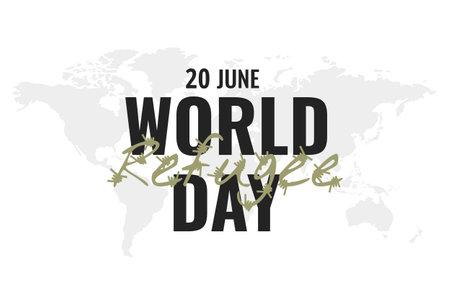 Vector Illustration of World Refugee Day