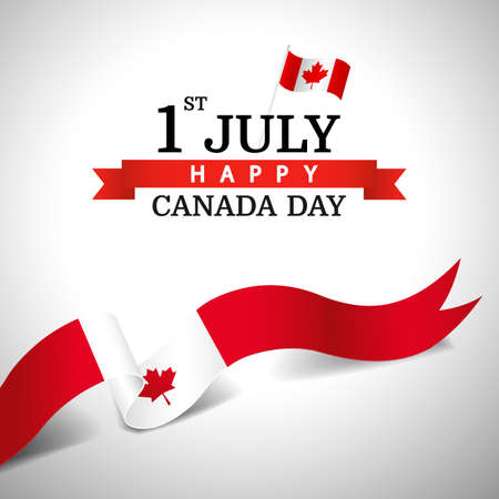 Vector Illustration of Canada day.