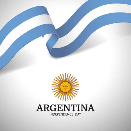 Vector Illustration of Independence Day of Argentina. 일러스트
