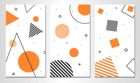 Set of abstract banner template. Vertical design.