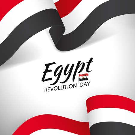 Vector Illustration of Revolution Day Egypt.