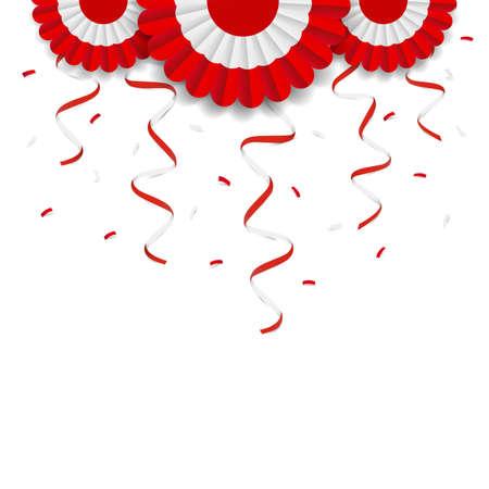 Vector Illustration of Peru Independence Day. Cockade national symbol of Peru.