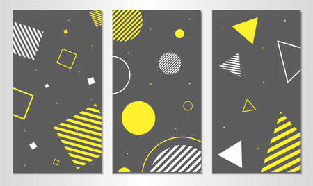 Set of abstract backgrounds template. Vertical design.