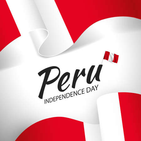 Vector Illustration of Peru Independence Day.