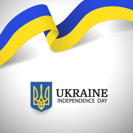 Vector Illustration of Ukraine Independence Day. 일러스트