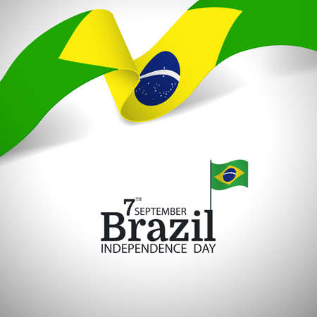 Vector Illustration of Brazil Independence Day.