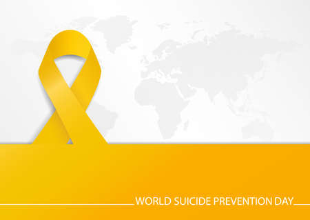 Vector Illustration of world suicide prevention day. Template banner.