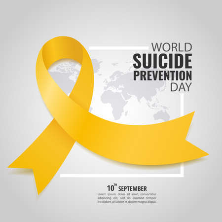 Vector Illustration of world suicide prevention day.