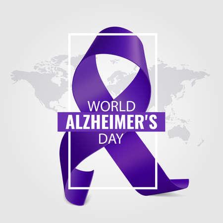 Vector Illustration of World Alzheimer's Day 일러스트