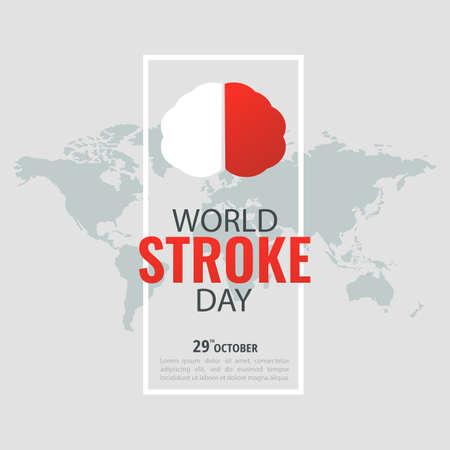 Vector Illustration of World Stroke Day.