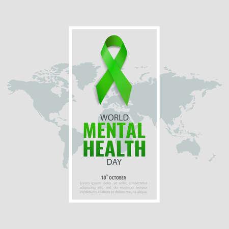 Vector Illustration of World Mental Health Day