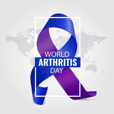 Vector Illustration of World Arthritis Day 일러스트