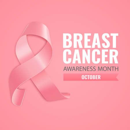 Vector Illustration of Breast Cancer. 일러스트