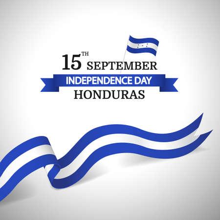 Vector Illustration of Honduras Independence Day. 일러스트