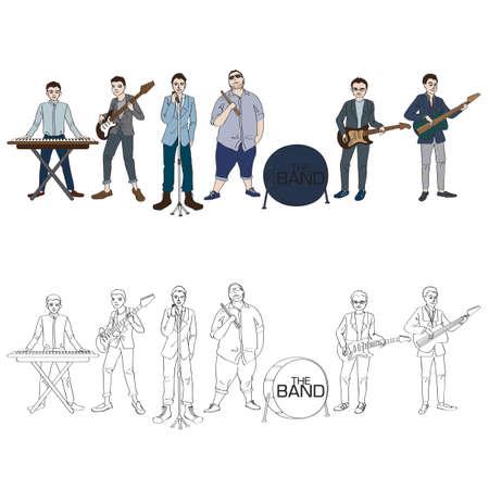 Musician Boys Band Vector