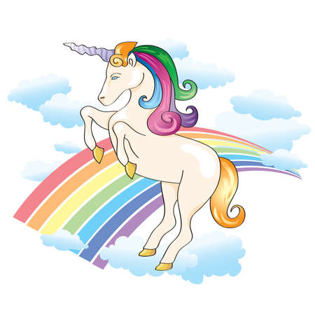 Unicorn Rainbow Vector