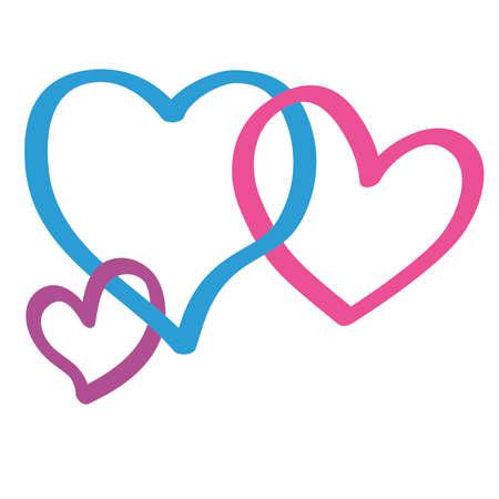 loveless: Colorful of Cheating Heart Shape Illustration