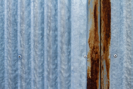 Texture of Rusted galvanized iron plate photo