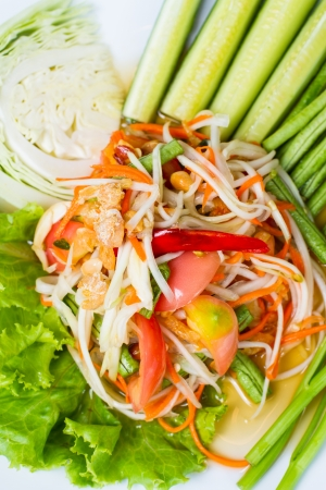 Som Tum Thai, Young papaya salad photo