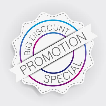 lable: Promotion Lable Minimal Design Illustration