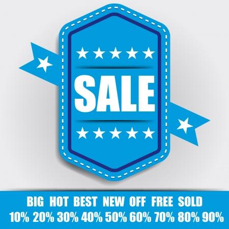 blue sale Lable Minimal Design