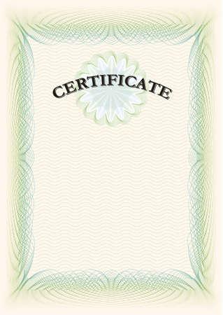 Certificate portrait format